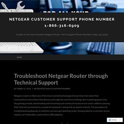 Troubleshoot Netgear Router through Technical Support