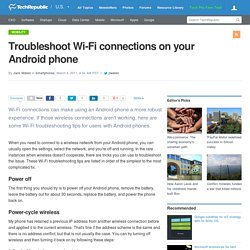 Troubleshoot Wi-Fi connections on your Android phone