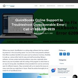 QuickBooks Online Support to Troubleshoot Unrecoverable Error