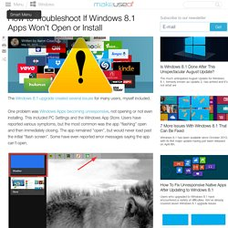 How to Troubleshoot If Windows 8.1 Apps Won't Open or Install