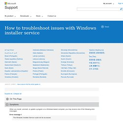 How to troubleshoot problems when you install or uninstall programs on a Windows-based computer