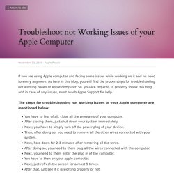 Troubleshoot not Working Issues of your Apple Computer - Apple Repair