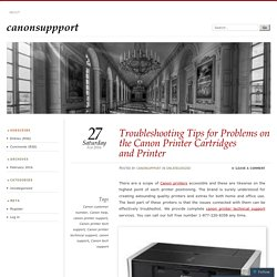 Troubleshooting Tips for Problems on the Canon Printer Cartridges and Printer