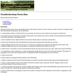 Troubleshooting Worm Bins - Cornell Composting