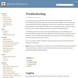 Troubleshooting - DreamFactory