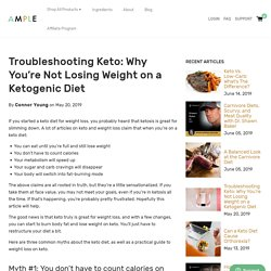 Troubleshooting Keto: Why You're Not Losing Weight on a Keto Diet – Ample Foods