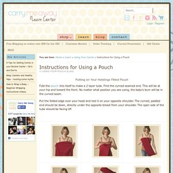 Safe Use And Troubleshooting Of Pouch Baby Carriers