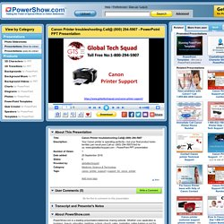 Canon Printer troubleshooting.Call@:(800) 294-5907 PowerPoint presentation