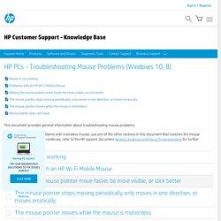 PCs - Troubleshooting Mouse Problems (Windows 10, 8)