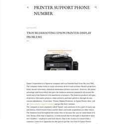 Troubleshooting Epson Printer Display Problems