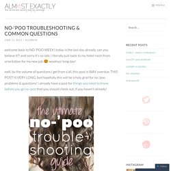no-'poo troubleshooting & common questions