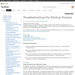 Troubleshooting the Startup Process