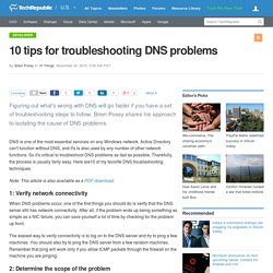 10 tips for troubleshooting DNS problems