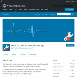 Health Check & Troubleshooting