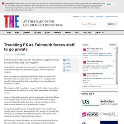 Troubling FX as Falmouth forces staff to go private