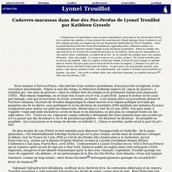 Trouillot, Lyonel, « Cadavres-marassas dans Rue des Pas-Perdus de Lyonel Trouillot »