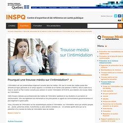 Trousse média sur l'intimidation / INSPQ, mars 2019
