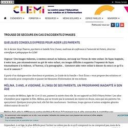 Trousse de secours en cas d'accidents d'images- CLEMI