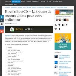 Hiren's BootCD – La trousse de secours ultime pour votre ordinateur