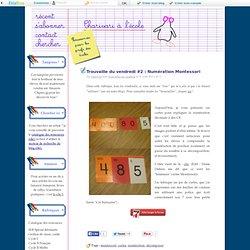 Les cartes de numération Montessori