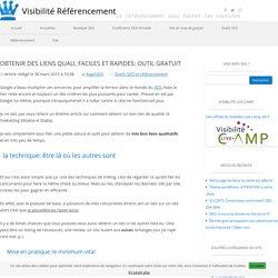 Trouver des backlinks de qualité et facilement: outil gratuit