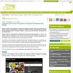 Trouver des photos Creative Commons sur Flickr de cinq façons