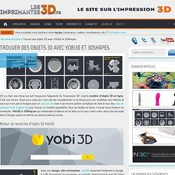 Trouver des objets 3D en ligne