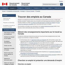Trouver des emplois au Canada