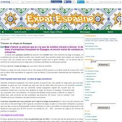 Trouver un stage en Espagne - ExpatEspagne