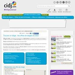 Trouver un stage : les offres de stages étudiants en entreprise du CIDJ
