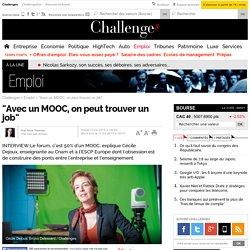"""""""Avec un MOOC, on peut trouver un job""""- 17 février 2015"""