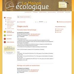 Stages courts - Trouver une formation - La Maison écologique