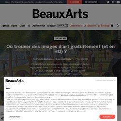 Où télécharger des images d'art gratuitement (et en HD) ?