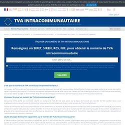Trouver un numéro de TVA intracommunautaire