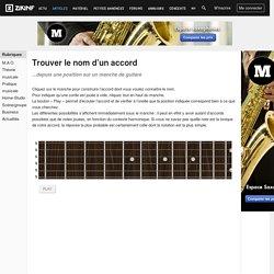 Trouver le nom d'un accord à la guitare