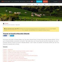 Trouver un travail en Nouvelle-Zélande - PVTistes.net