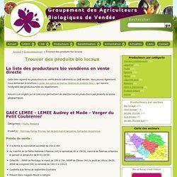 Trouver des produits bio locaux