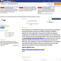 Trouver en Liste des agences web professionnelles ligne à Lyon