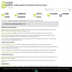 Où trouver des ressources en Open Access – Science ouverte France
