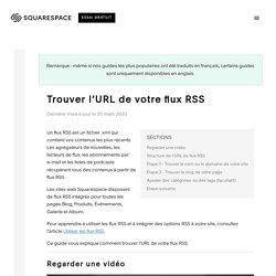 Trouver l'URL de votre flux RSS – Squarespace