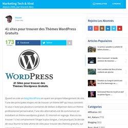 41 sites pour trouver des Thèmes Wordpress Gratuits