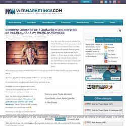 Trouvez un bon thème WordPress avec cette méthode