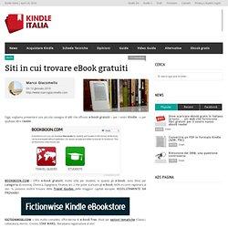 Siti in cui trovare eBook gratuitiKindle Italia