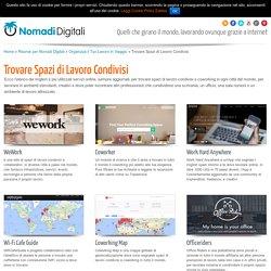 Trovare Spazi di Lavoro CondivisiNomadi Digitali