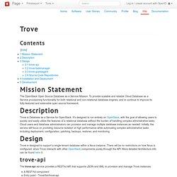 Trove — OpenStack