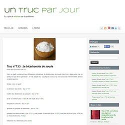 Liste d'utilisations du bicarbonate de soude