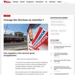Trucage des élections en Autriche ?