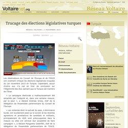 Trucage des élections législatives turques