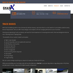 Searching For Truck Bodies Manufacturer? Visit Shawx