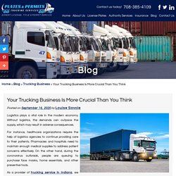 Your Trucking Business Is More Crucial Than You Think